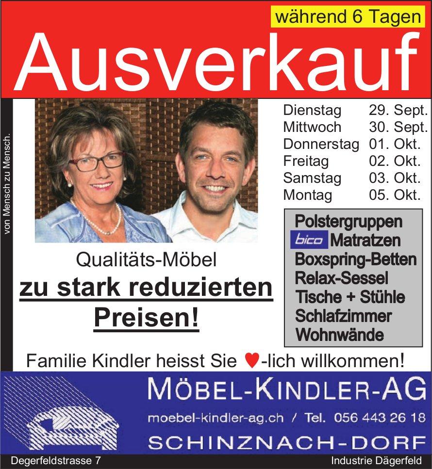 Moebel Kindler AG, Ausverkauf