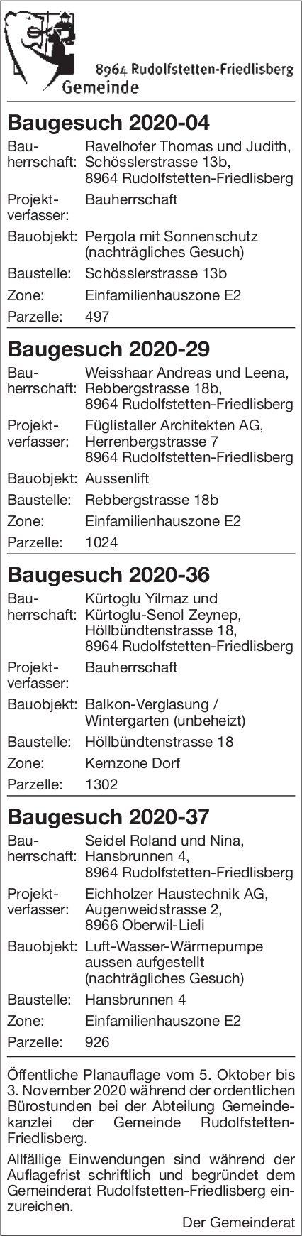 Baugesuche - Gemeinde Rudolfstetten