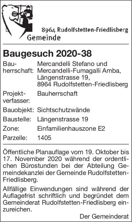Gemeinde Rudolfstetten -  Baugesuch 2020-38