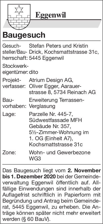 Gemeinde Eggenwil - Baugesuch