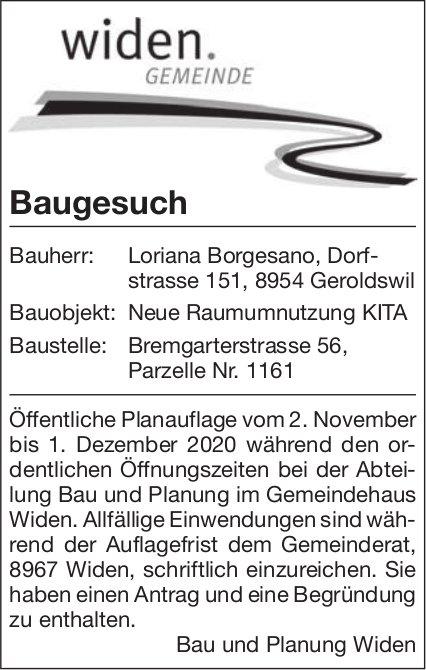Gemeinde Widen - Baugesuch