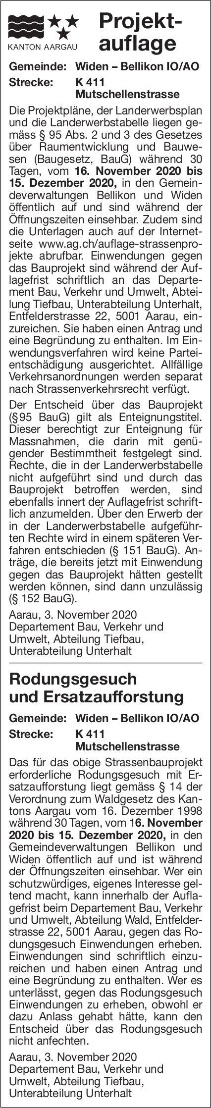 Kanton Aargau - Projektauflage