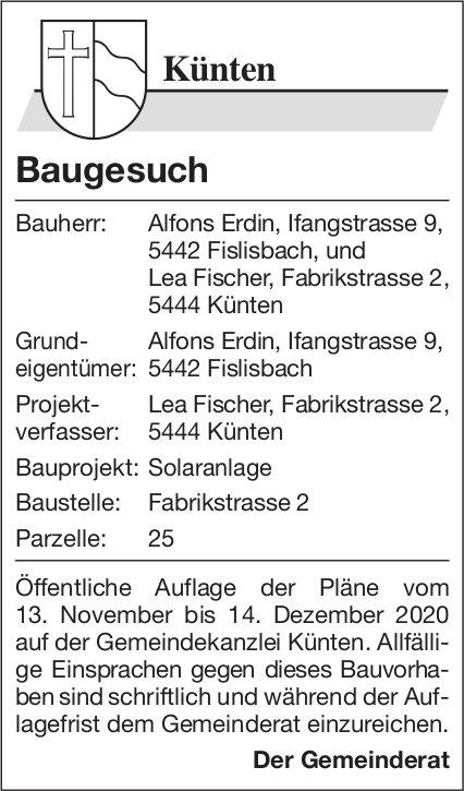 Fislisbach - Baugesuch