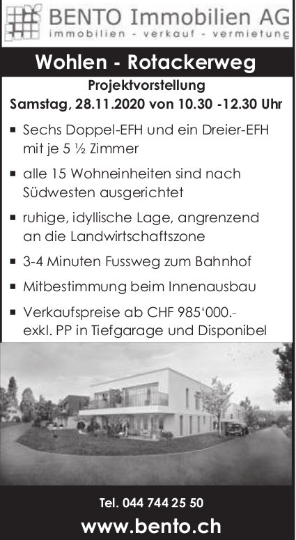 5½-Zimmer-Wohnung, Wohlen, zu verkaufen