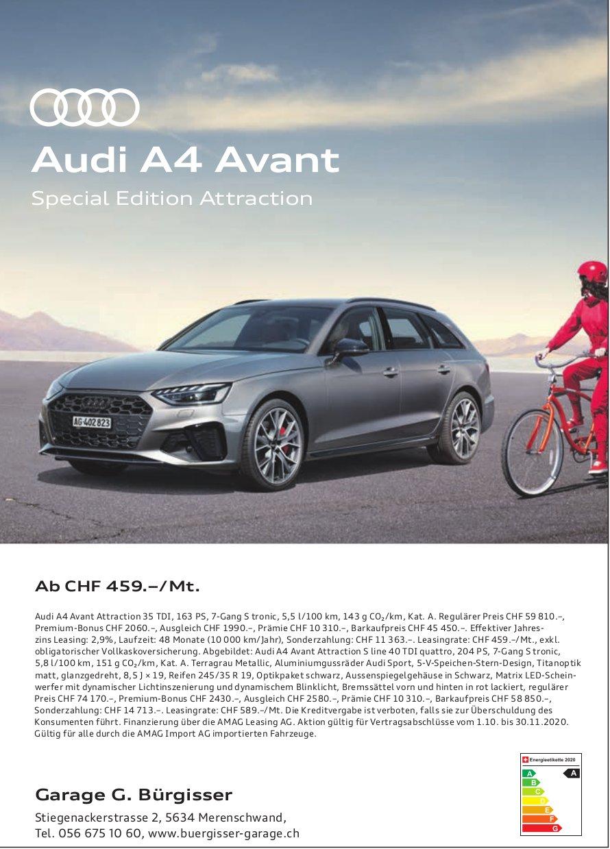 Buergisser Garage, Merenschwand - Audi A4 Avant