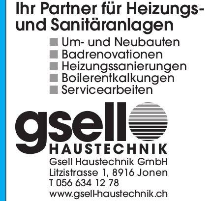 Gsell Haustechnik GmbH, Jonen - Ihr Partner für Heizungs- und Sanitäranlagen