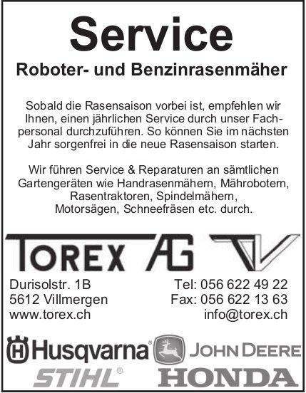 Service Robter- und Benzinrasenmäher - Torex AG TV