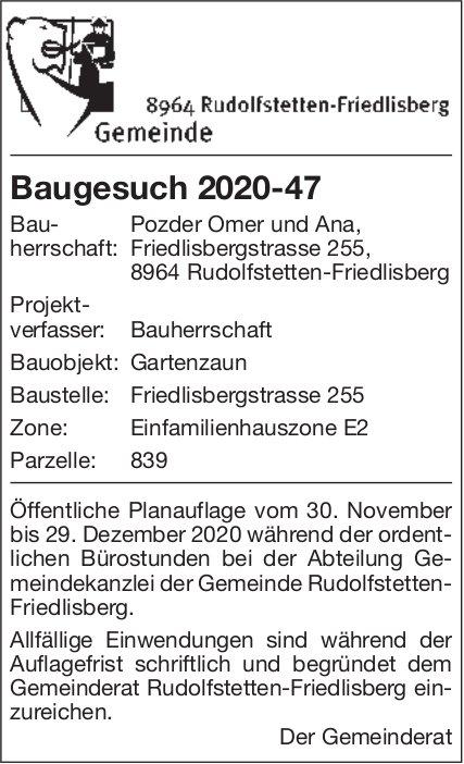 Baugesuche, Gemeinde Rudolfstetten-,