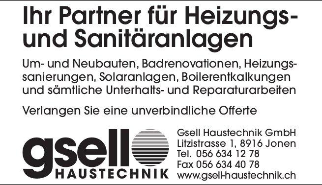 Ihr Partner für Heizungs- und Sanitäranlagen - Gsell GmbH