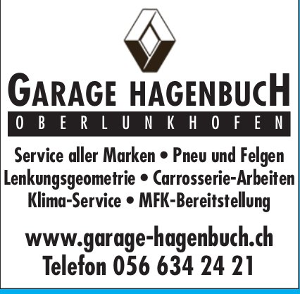 Garage Hagenbuch, Service aller Marken