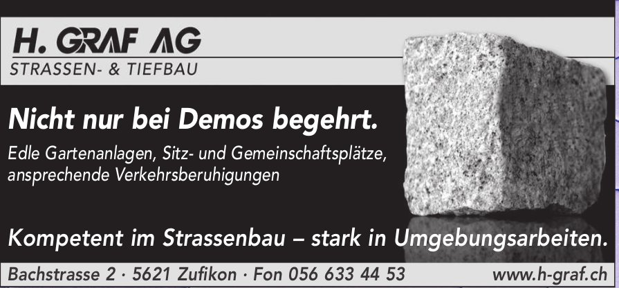 H. Graf AG,  Zufikon - Strassen- und Tiefbau
