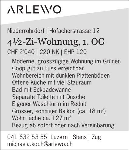 4.5-Zimmerwohnung in Niederrohrdorf zu vermieten