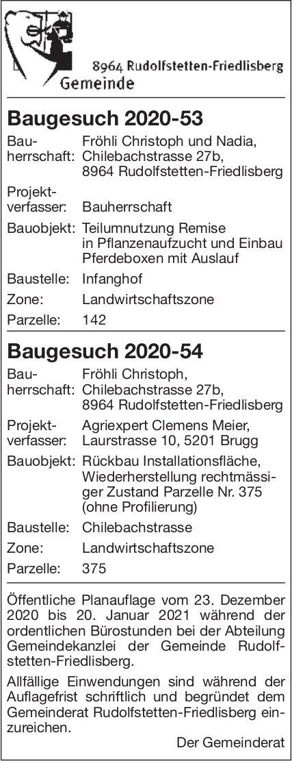 Gemeinde Rudolfstetten-Friedlisberg - Baugesuche