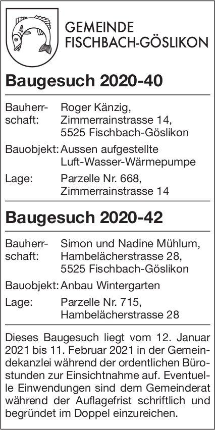 Gemeinde Fischbach-Göslikon - Baugesuche