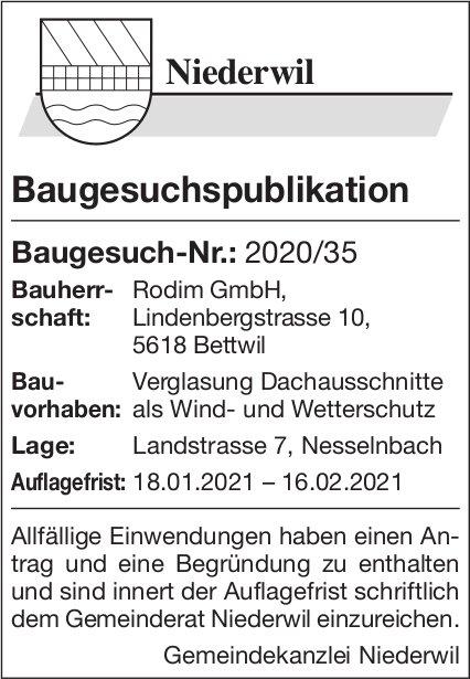 Baugesuche, Niederwil