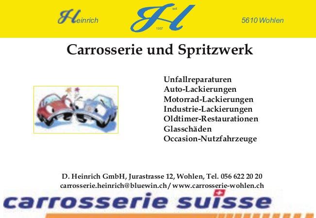 D. Heinrich GmbH, Wohlen - Carrosserie und Spritzwerk