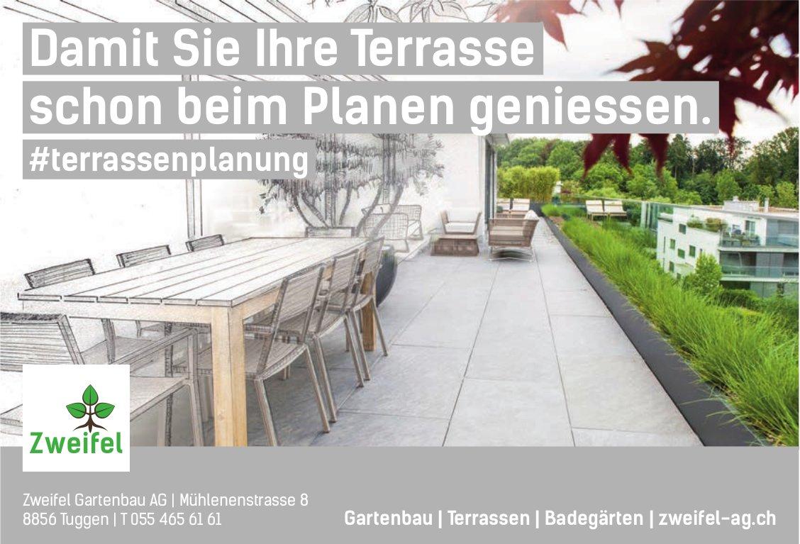 Zweifel Gartenbau AG, Tuggen - Damit Sie Ihre Terrasse schon beim Planen geniessen.