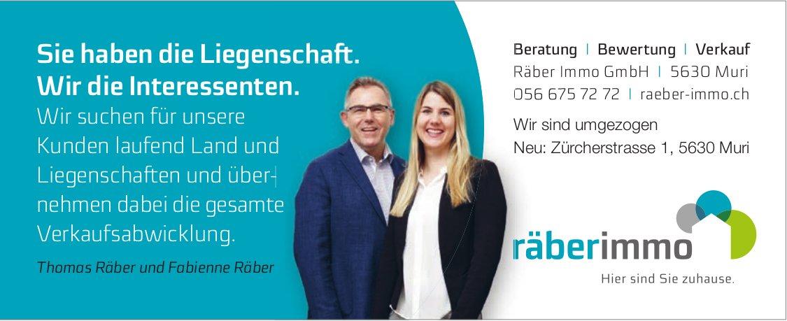 Räber Immo GmbH, Muri - Sie haben die Liegenschaft. Wir die Interessenten.