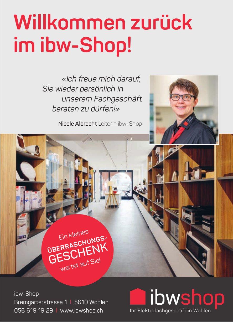 Ibwshop, Wohlen - Willkommen zurück im ibw-Shop!