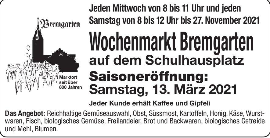 Wochenmarkt Bremgarten - Saisoneröffnung am 13. März