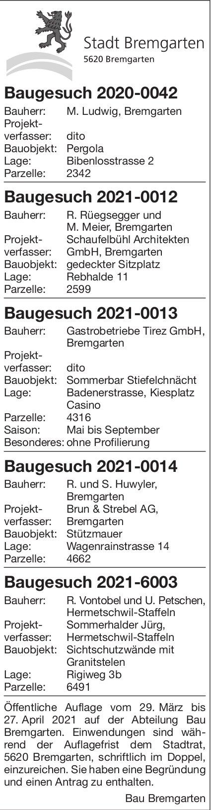 Stadt Bremgarten - Baugesuche