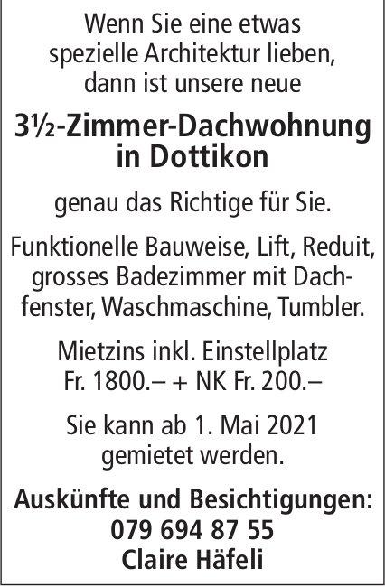 3½-Zimmer-Dachwohnung in Dottikon, zu vermieten