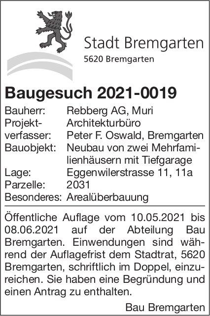 Baugesuche, Stadt Bremgarten, Baugesuch