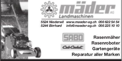 Mäder AG, Niederwil - Landmaschinen und Reparatur aller Marken