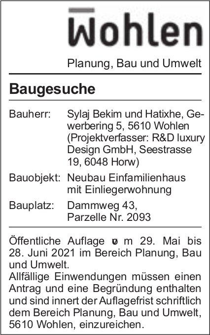 Gemeinden Wohlen - Baugesuche