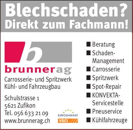 Brunner AG, Zufikon - Blechschaden? Direkt zum Fachmann