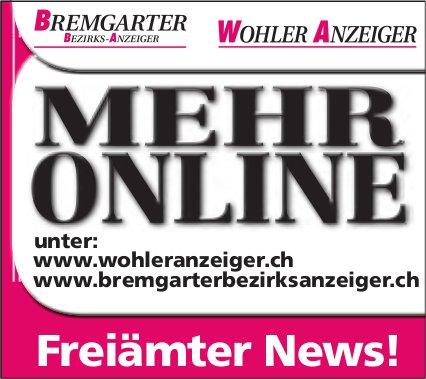 MEHR ONLINE - Freiämter News!