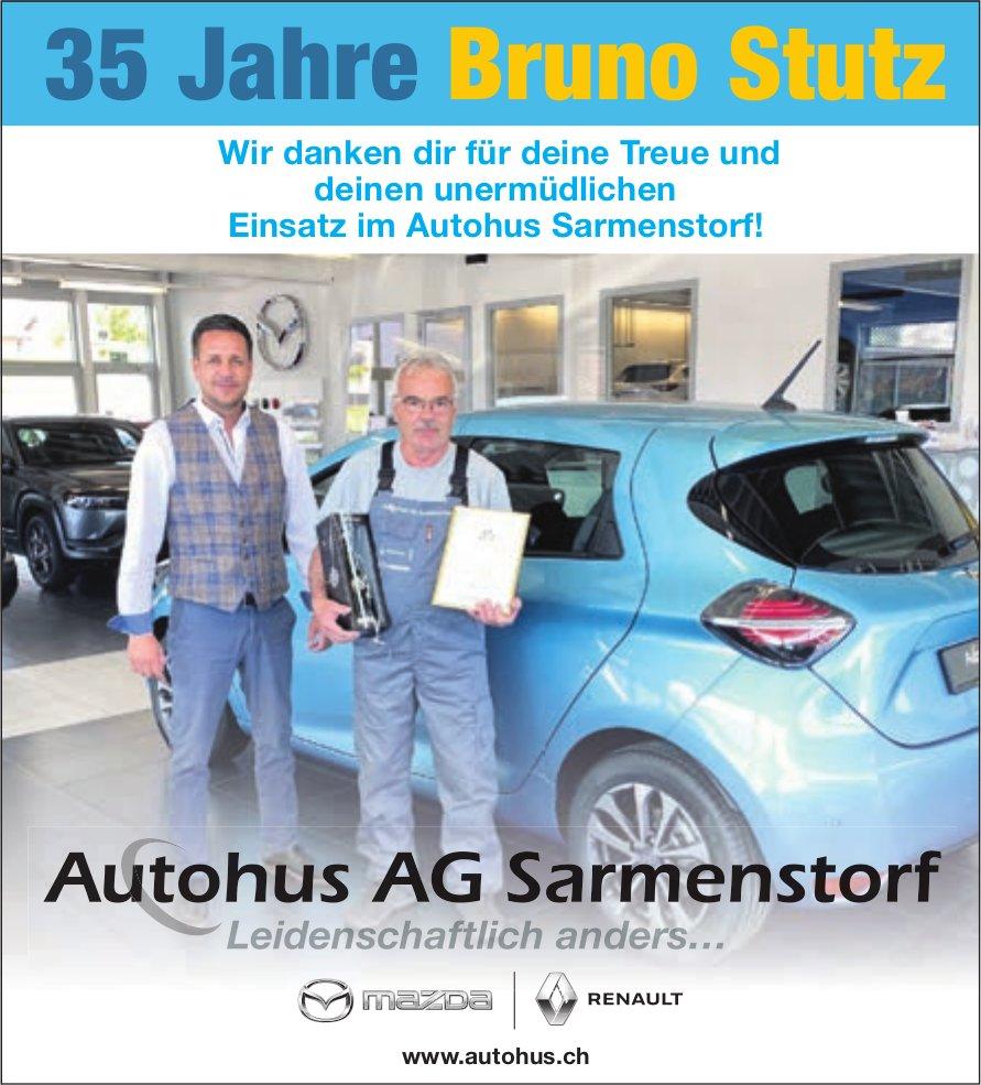 Autohus AG, Bruno Stutz 35 Jahre Treue und Einsatz