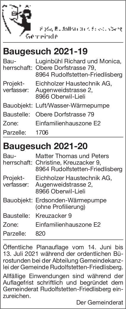 Baugesuche, Rudolfstetten-Friedlisberg - Eichholzer Haustechnik AG, Baugesuch