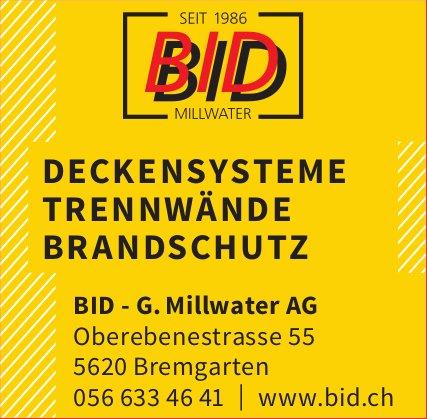 BID - G. Millwater AG,  Bremgarten - Deckensysteme, Trennwände, Brandschutz