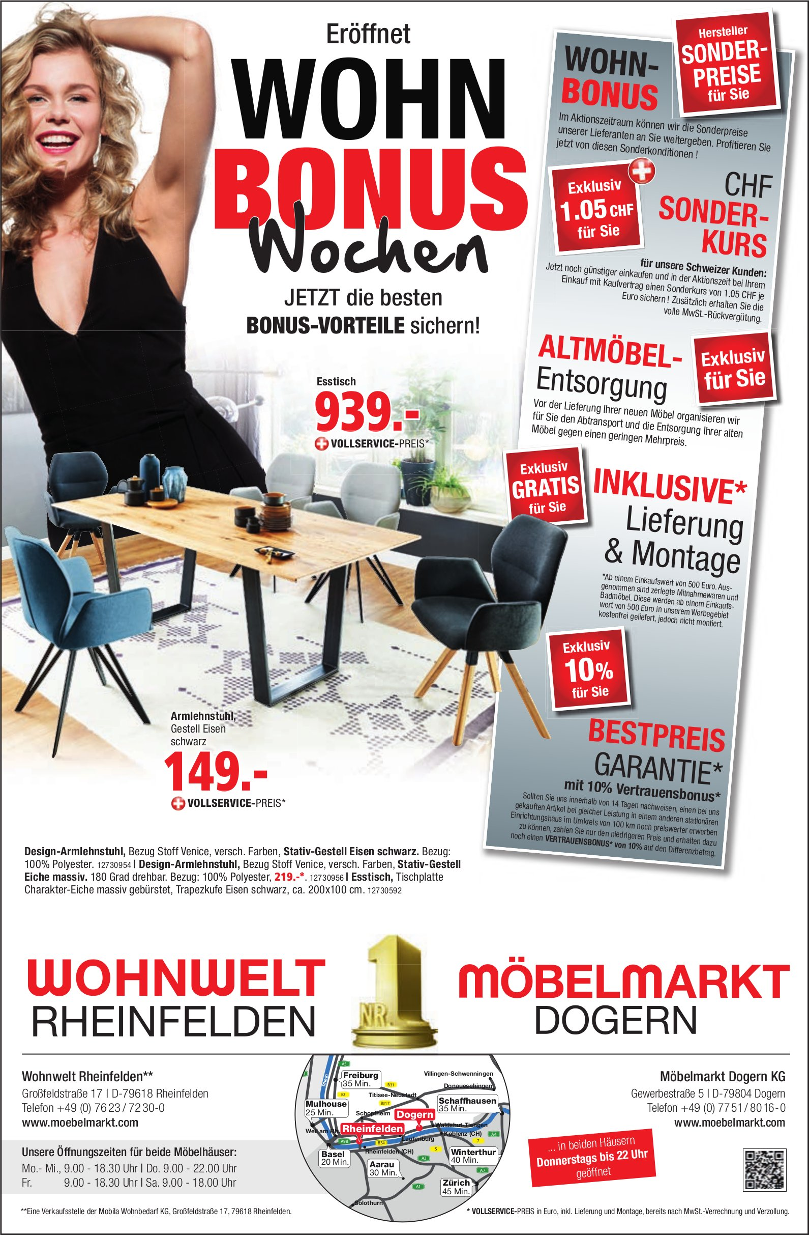 Wohnwelt, Rheinfelden - Wohn Bonus Wochen