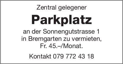 Parkplatz, Bremgarten, zu vermieten