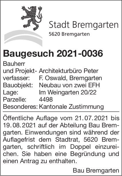 Baugesuche - Bremgarten