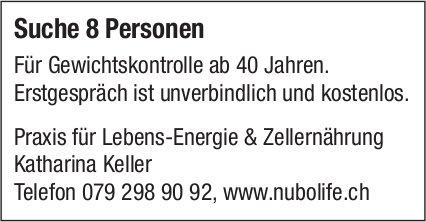 Praxis für Lebens-Energie & Zellernährung - Suche 8 Personen, für Gewichtskontrolle ab 40 Jahren.