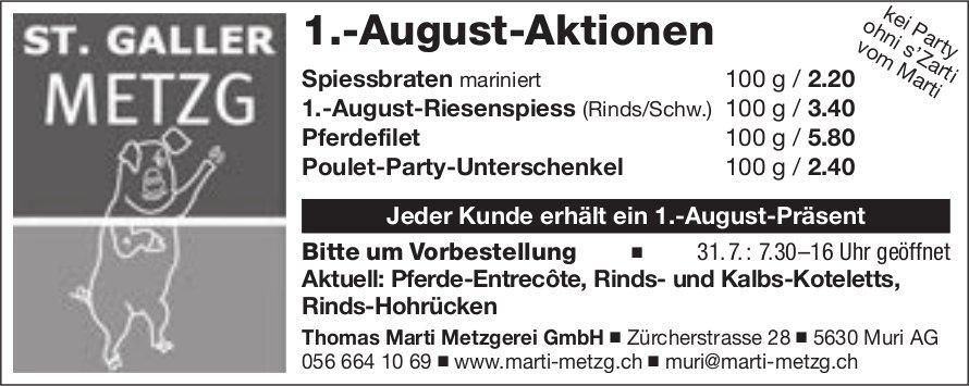 Thomas Marti Metzgerei GmbH, Muri AG - 1.-August-Aktionen