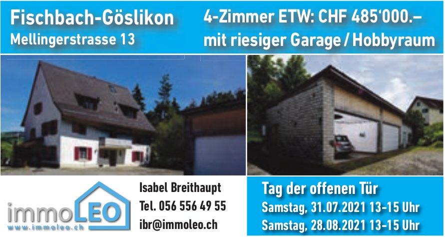4-Zimmer ETW mit riesiger Garage/Hobbyraum, Fischbach-Göslikon, zu verkaufen -  Tag der offenen Tür am 31. Juli & 28. August
