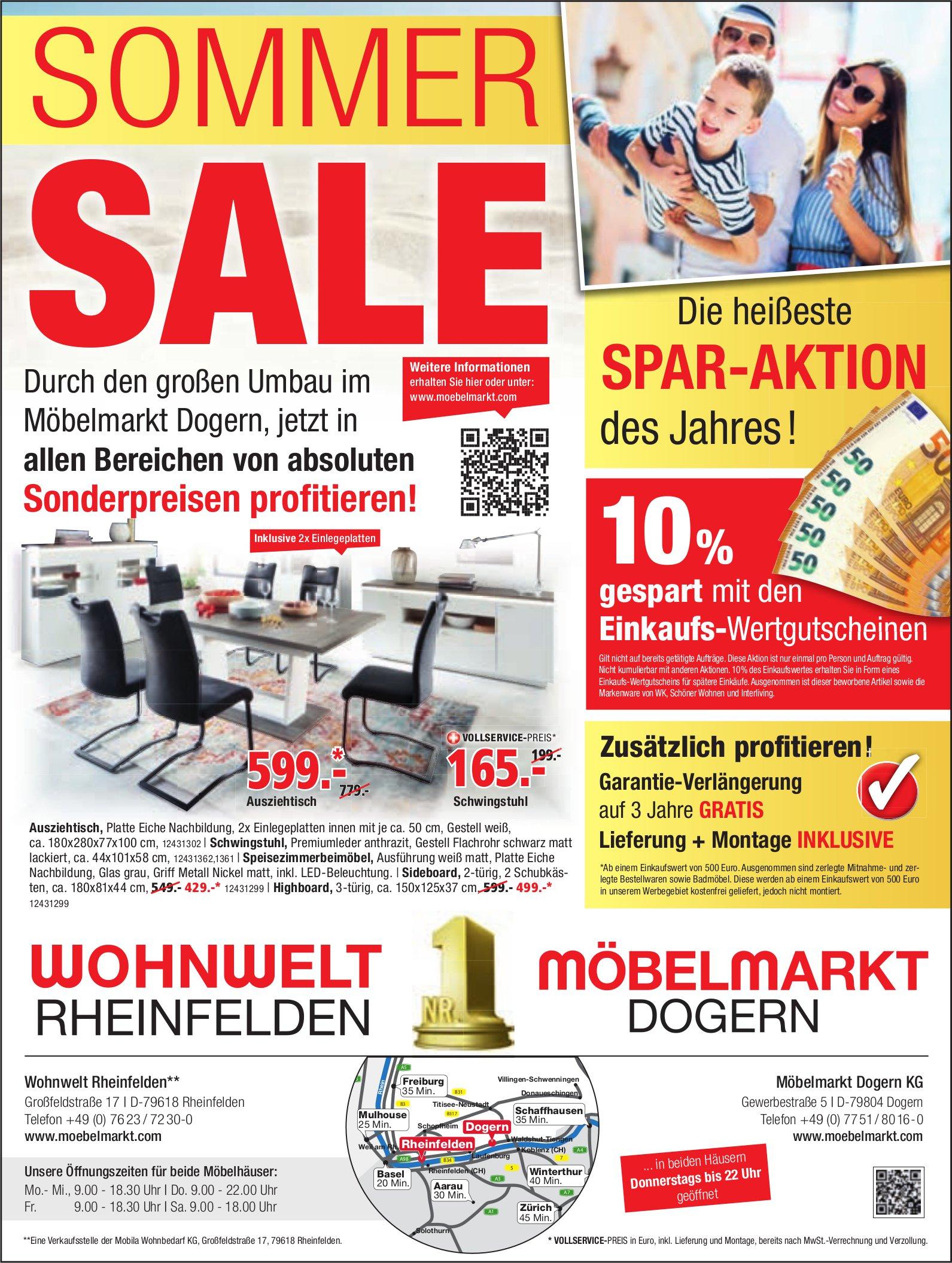 Wohnwelt, D-Rheinfelden - Sommer Sale