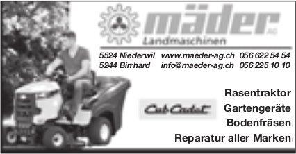 Mäder AG, Niederwil - Landmaschinen