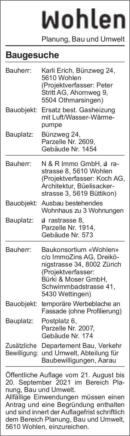 Baugesuche, Wohlen - Karli Erich
