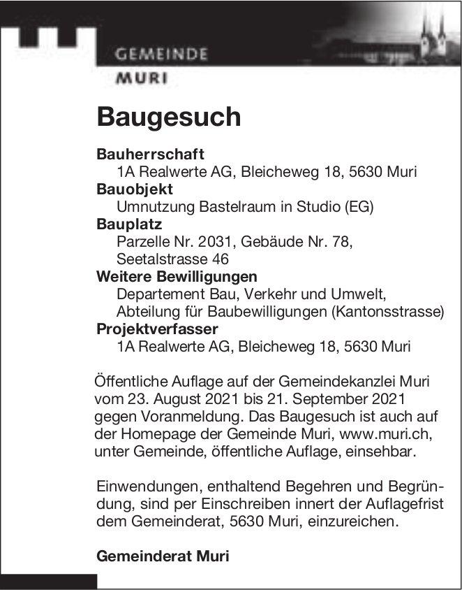 Baugesuche, Muri - 1A Realwerte AG
