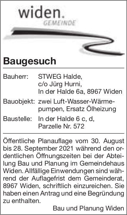 Baugesuche, Widen - STWEG Halde