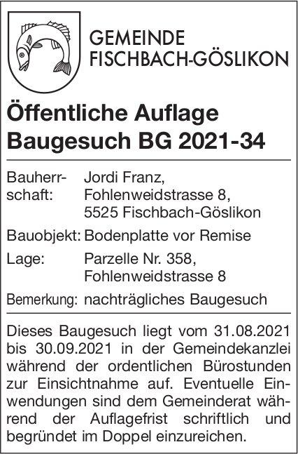 Baugesuche - Fischbach-Göslikon