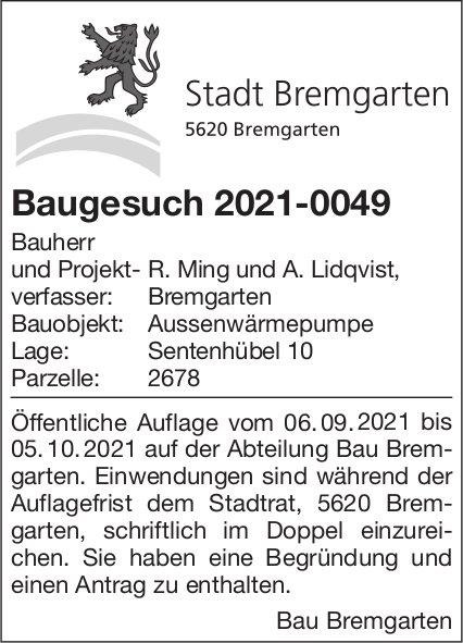 Baugesuche, Bremgarten - R. Ming und A. Lidqvist