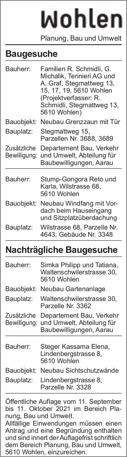 Baugesuche, Wohlen - Michalik, Terinieri AG