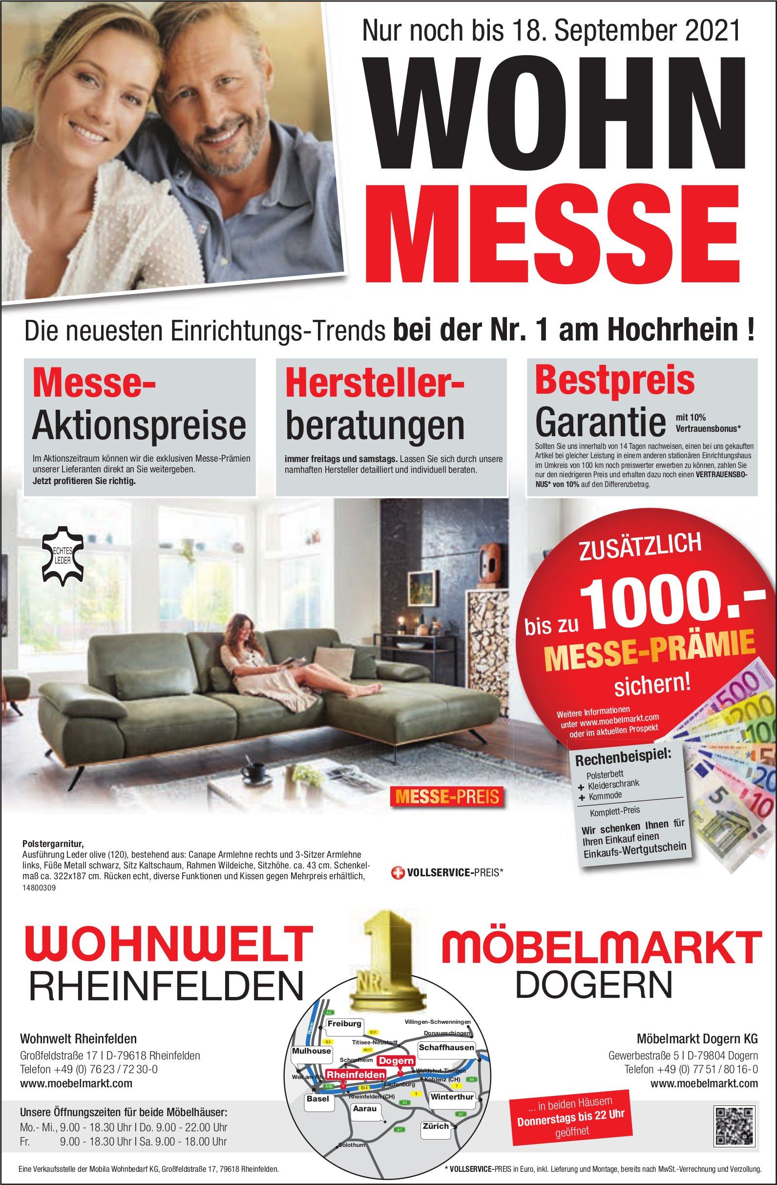 Möbelmarkt, D-Rheinfelden - Wohnmesse