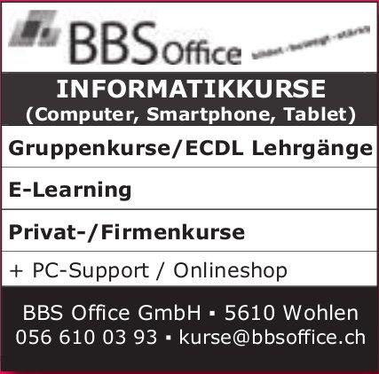 BBS Office GmbH, Wohlen - INFORMATIKKURSE
